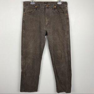 VTG Wrangler Brown Straight Leg Jeans 33